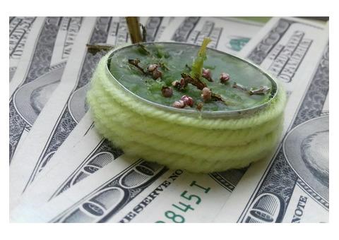 Обрядовая денежная свеча восковая